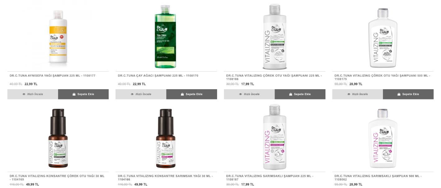 Farmasi saç bakım ürünleri